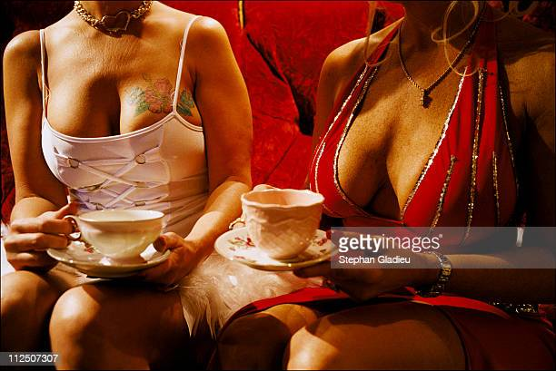 Tea time at the Moonlite Bunny Ranch a legal brothel owned by Dennis Hof in Lyon County one of the fews counties in the USA which permits legalized...