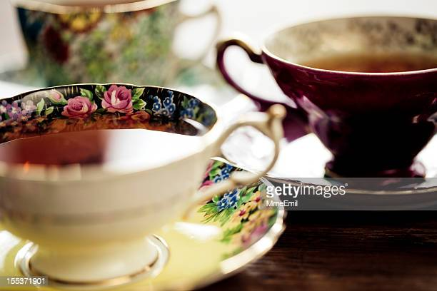 tea time - afternoon tea stock pictures, royalty-free photos & images