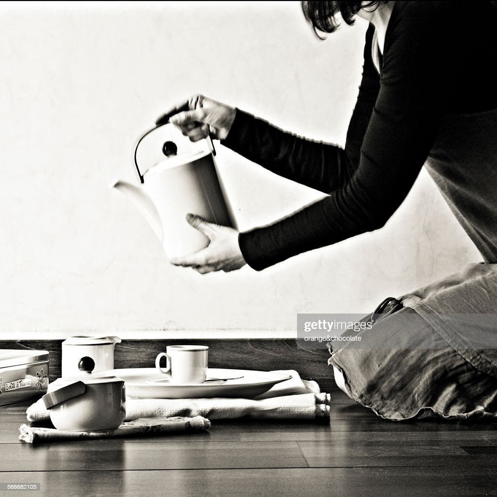 Tea time : Foto de stock