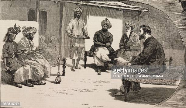 Tea time the end of the Second AngloAfghan War illustration from the magazine The Graphic volume XX no 502 July 12 1879