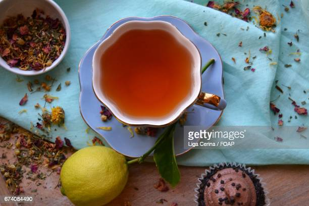 Tea time with cupcake