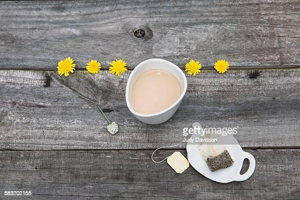 Tea with dandelions