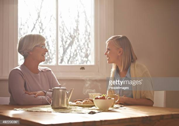 Tea with grandma always makes my day