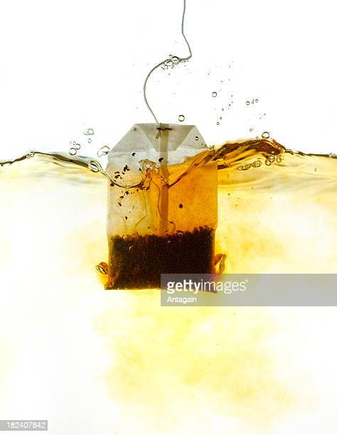 Teabag in hot water
