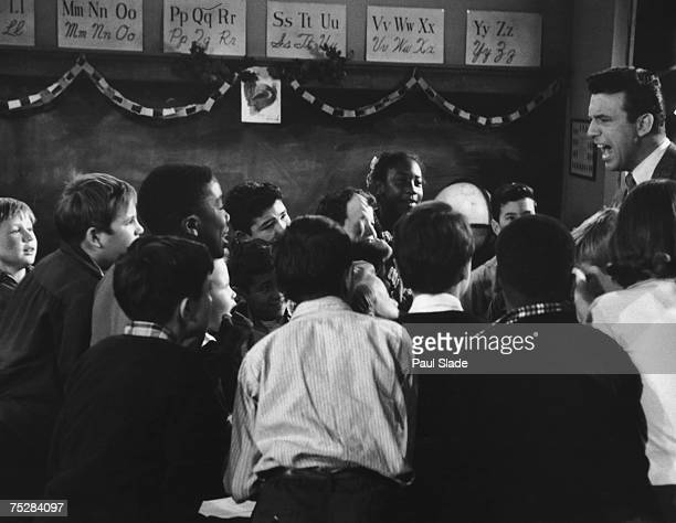 Teacher addressing a mixed-race class in Little Rock, Arkansas, circa 1960. Desegregation of Arkansas schools had to be enforced by federal troops...