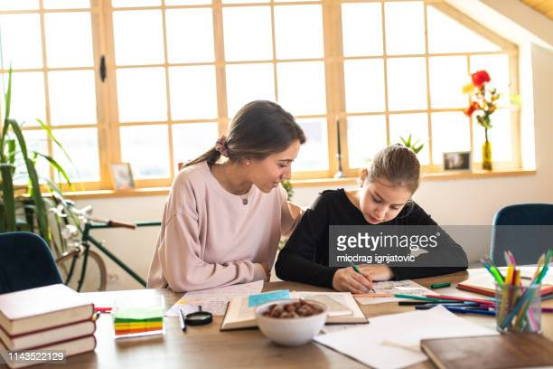 teacher and student at private school - private stock pictures, royalty-free photos & images
