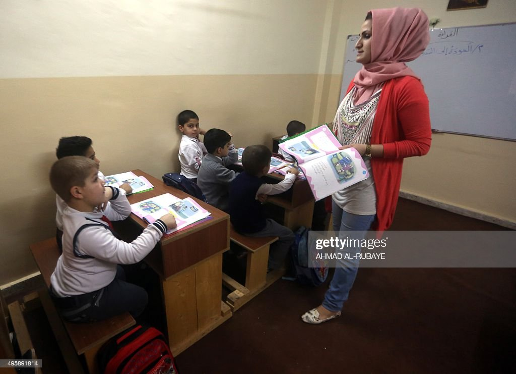 IRAQ-CONFLICT-EDUCATION-SCHOOL : ニュース写真