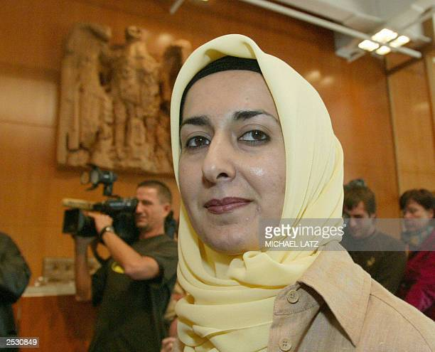 Teacher Fereshta Ludin waits for the verdict in her case at Germany's highest court in Karlsruhe 24 September 2003 The court ruled that a regional...