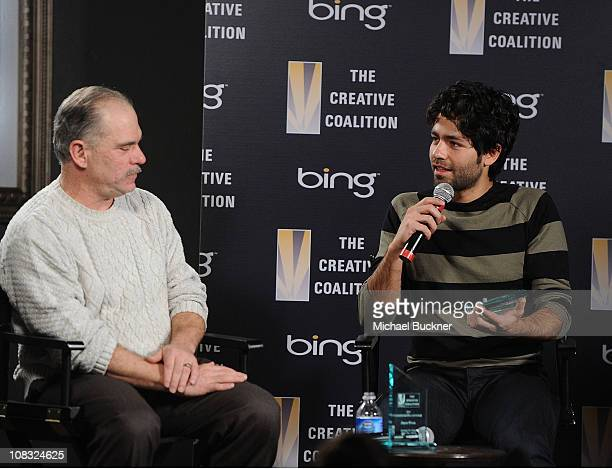 Teacher Henry Shifman and actor Adrien Grenier attend The Creative Coalition's Teachers Making a Difference Luncheon Presented by Bing on January 25,...