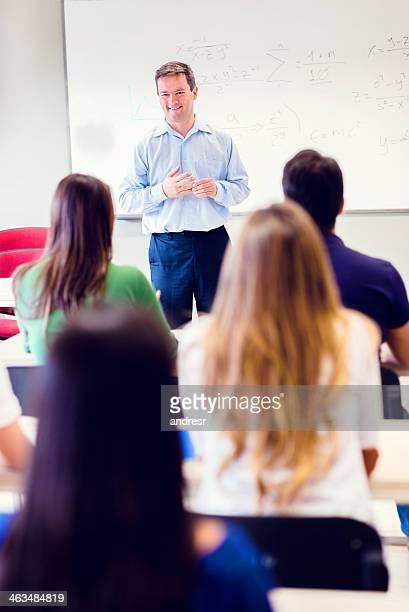 Teacher in class at the university
