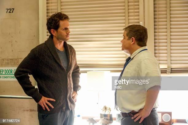 AP BIO 'Teacher Jail' Episode 104 Pictured Glenn Howerton as Jack Griffin Patton Oswalt as Principal Durbin