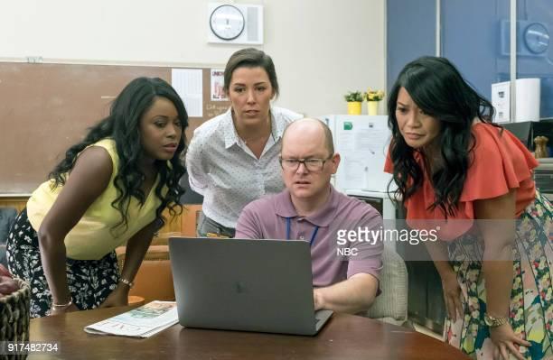 AP BIO 'Teacher Jail' Episode 104 Pictured Lyric Lewis as Stef Jean Villepique as Michelle Mark Proksch as Philip Mary Sohn as Mary