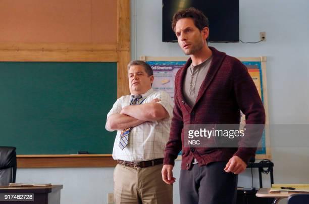 AP BIO 'Teacher Jail' Episode 104 Pictured Patton Oswalt as Principal Durbin Glenn Howerton as Jack Griffin