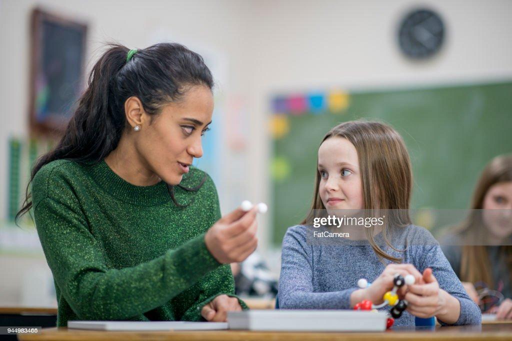 Teacher Lending A Hand : Stock Photo