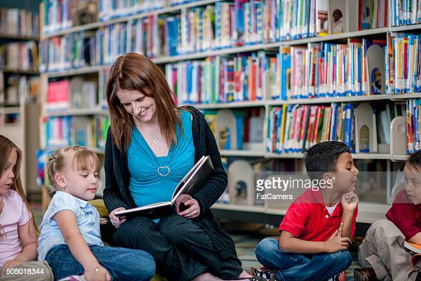 Teacher Reading a Book to Students