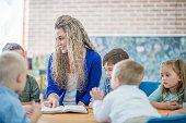 Teacher Reading the Bible