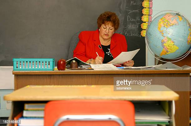teacher grading stock photos and pictures getty images