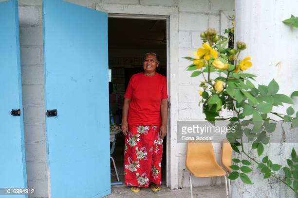Teacher Talo Asaelu poses for a photograph at school on August 15, 2018 in Funafuti, Tuvalu. Nauti Primary school is one of two on the main island...