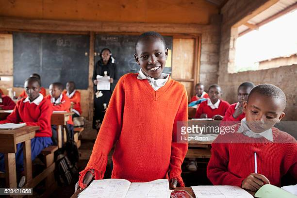 teacher teaching class, kenya - hugh sitton stock pictures, royalty-free photos & images