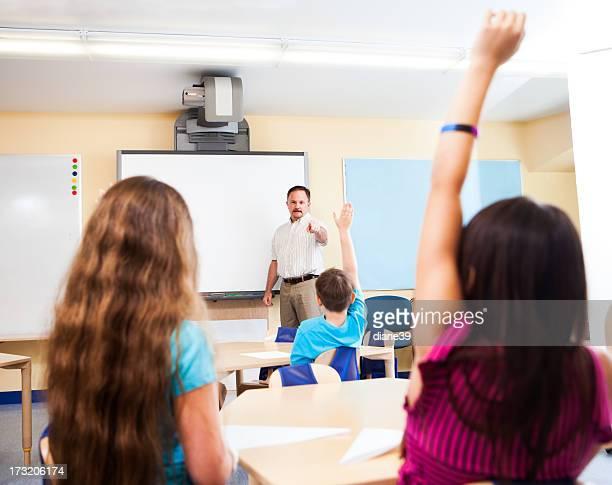 Teacher teaching in a classroom