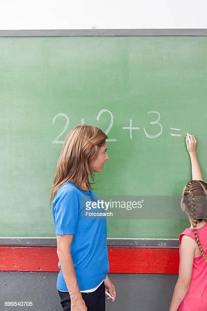 Teacher teaching math