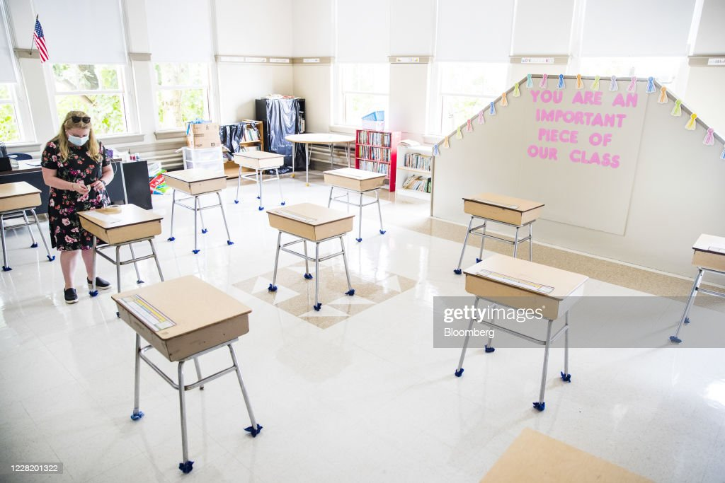 Saint Mary Of The Assumption Elementary School Prepares To Welcome Students Back : News Photo