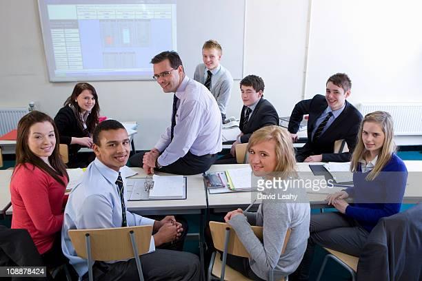 Teacher with his class