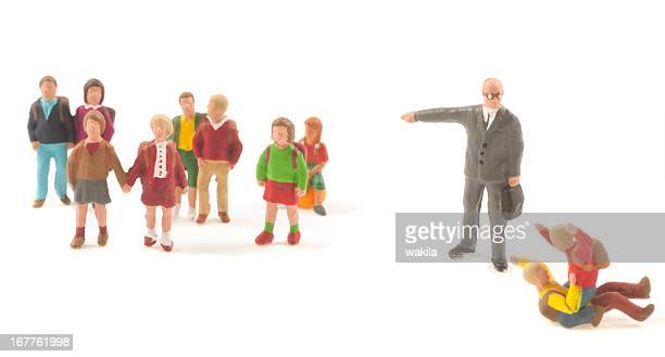 Teacher with pupils figurine abstract