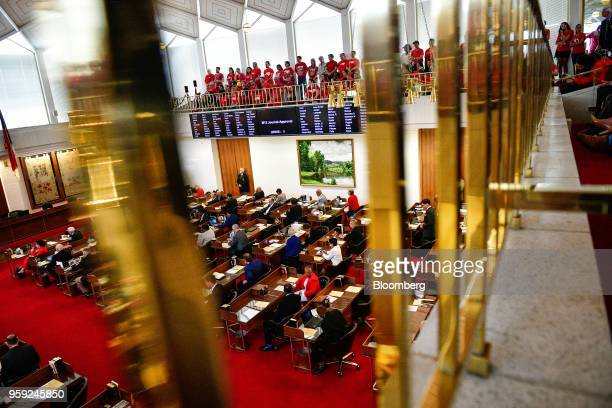 Teachers and supporters attend a 'March For Students And Rally For Respect' protest at the North Carolina State Assembly on the first day of the...