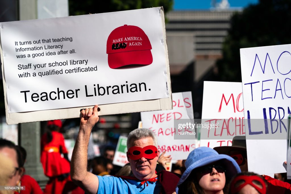 Teachers March In Los Angeles : News Photo