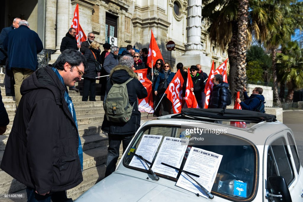 Protest in front of the Ministry of Education in Rome