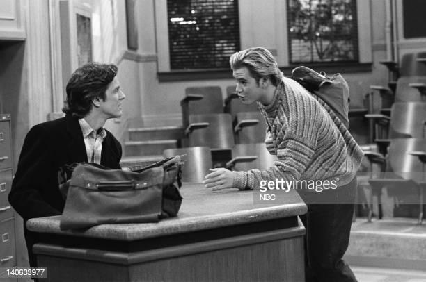 YEARS 'Teacher's Pet' Episode 12 Air Date Pictured Patrick Fabian as Professor Jeremiah Lasky MarkPaul Gosselaar as Zack Morris Photo by Chris...