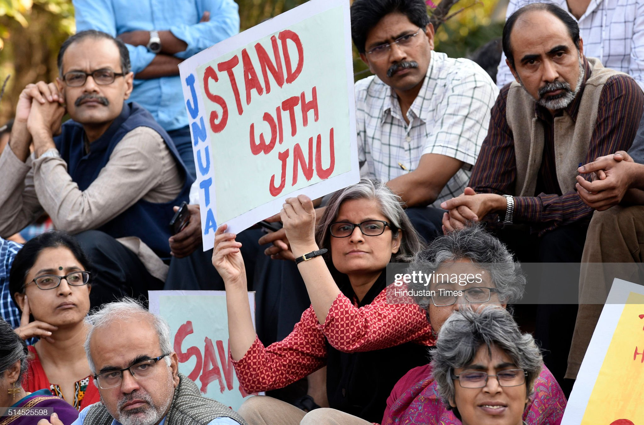 JNU Row: Students Protest Against The Arrest Of JNU Students : News Photo