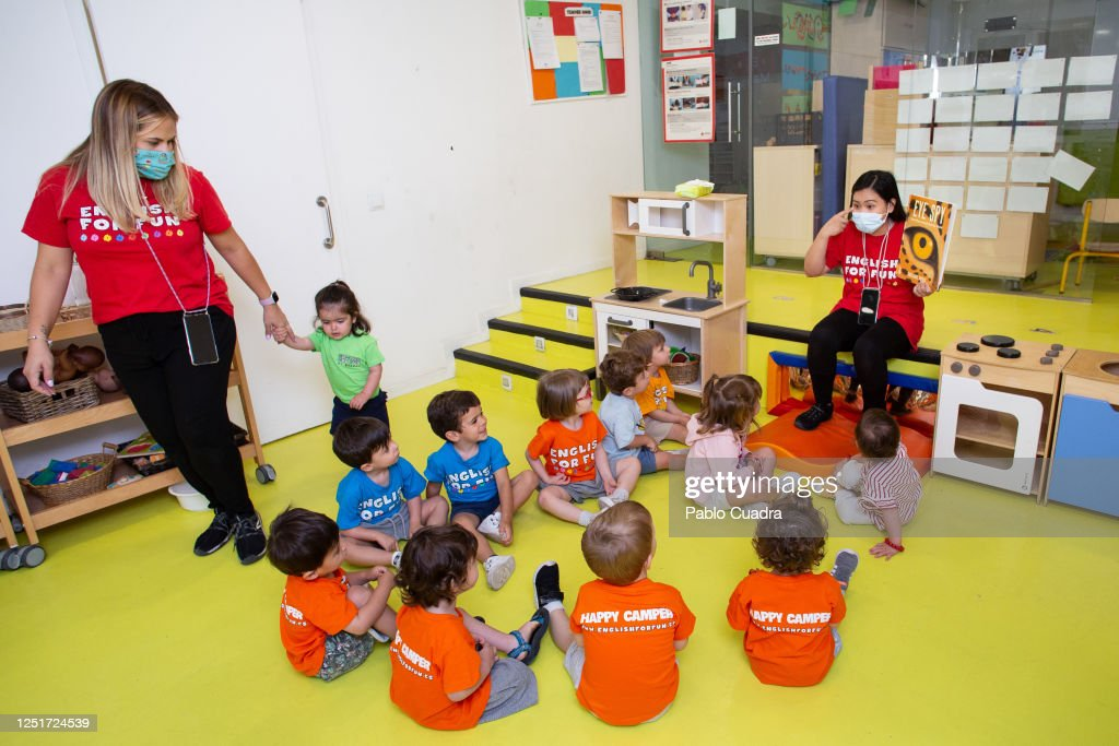 'English For Fun' Urban Summer Camp Reopens In Madrid : News Photo