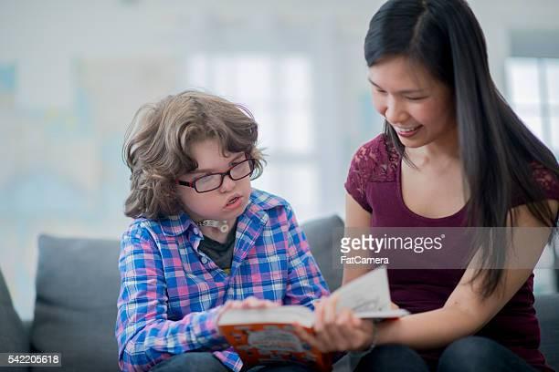 Unterricht ein Gehörlos Kind
