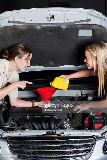 Teaching Car Maintenance to a female