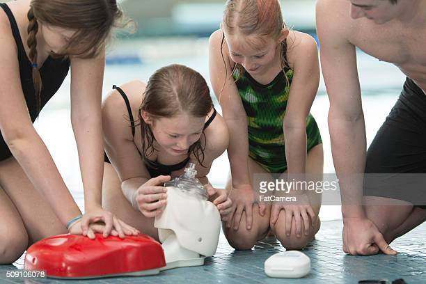 Teaching CPR to Swimmers