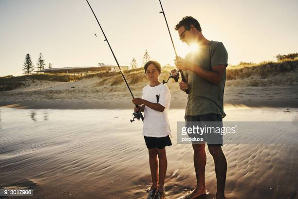 Teaching him how to fish is the best lesson