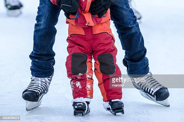 Teaching ice skating