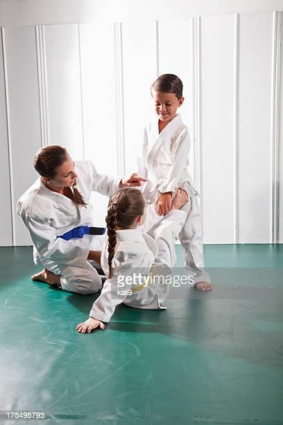 Ensinar Jiu-Jitsu abrir guarda posição