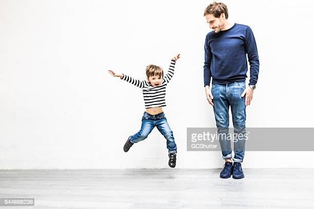 Teaching my son to exercise