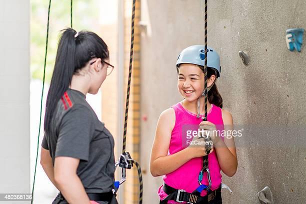 研修若い女の子を登る