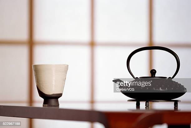 Teacup and Teapot in Tea Room