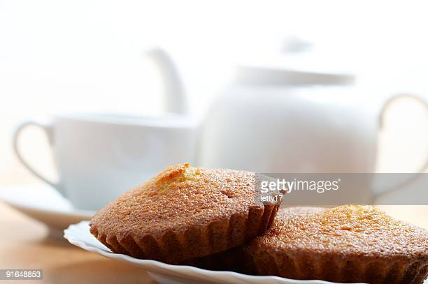 teacup teapot and muffins