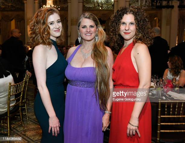 Teagan Earley, Bonnie Comley and Ellie Heyman attend the The 36th Annual Drama League Benefit Gala at The Plaza Hotel on October 28, 2019 in New York...