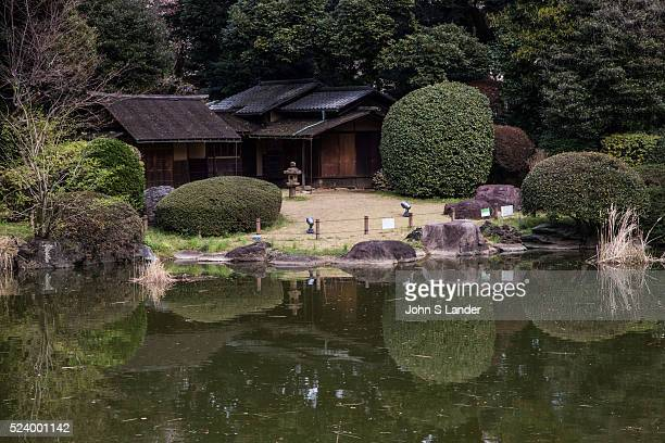 Teahouse and Pond Garden at Tokyo National Museum adds seasonal color to Ueno as it is abloom with flowers each different season During short periods...
