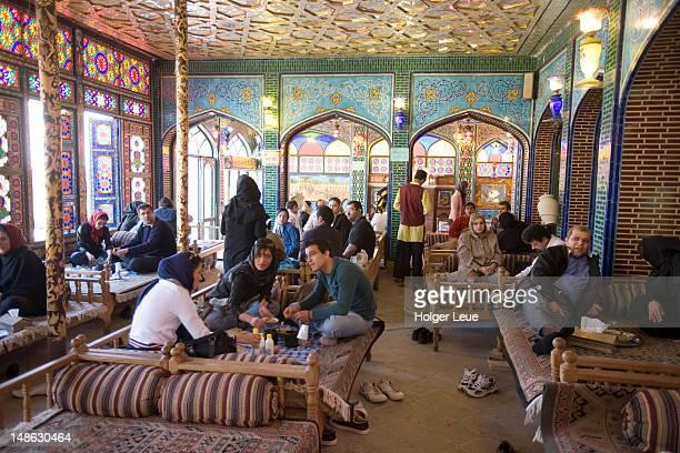 teahouse, emam khomeini square. - isfahan stock-fotos und bilder