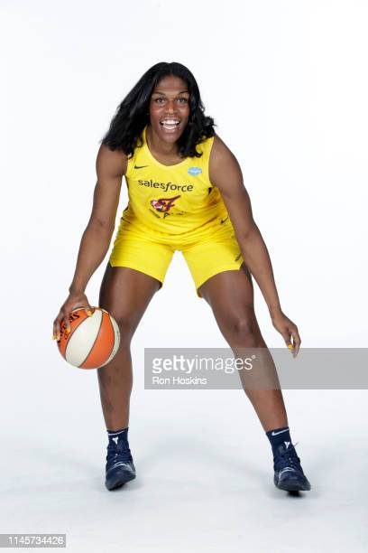 Teaira McCowan of the Indiana Fever poses for a portrait during the WNBA Media Day at Bankers Life Fieldhouse on May 20, 2019 in Indianapolis,...