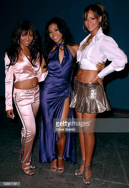 Teairra Mari Amerie and Rihanna during 2005 World Music Awards Backstage and Audience at Kodak Theatre in Los Angeles CA United States