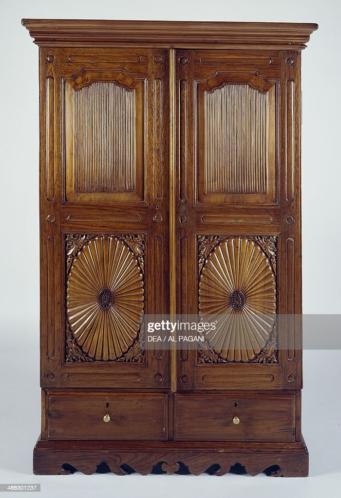 Teak Wardrobe Colonial Period IndoPortuguese India 19th Century